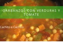 Garbanzos con verduras y tomate